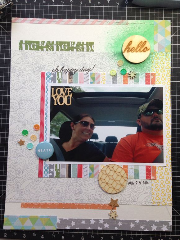 I'm Scrapbooking Today and Sewing!